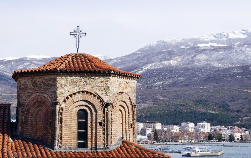 Церковь St Sophia в Ohrid стоковые фотографии rf
