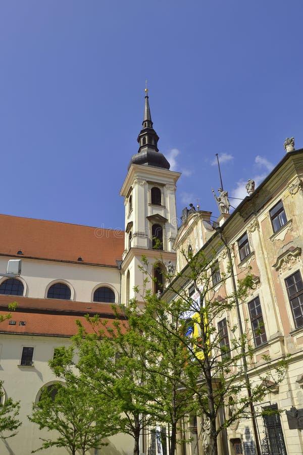 Церковь St. Thomas во Брне стоковое изображение rf