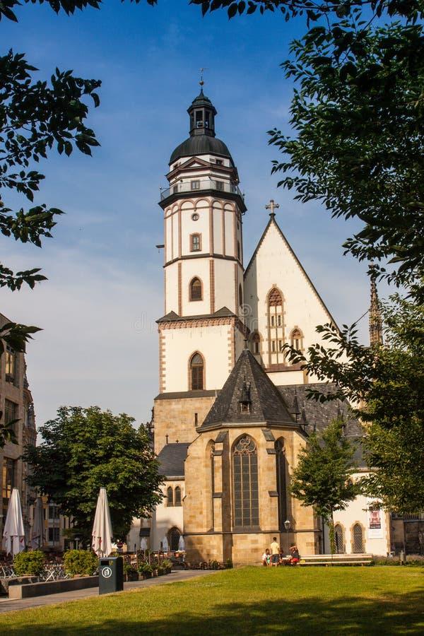Церковь St. Thomas, город Лейпцига стоковые изображения