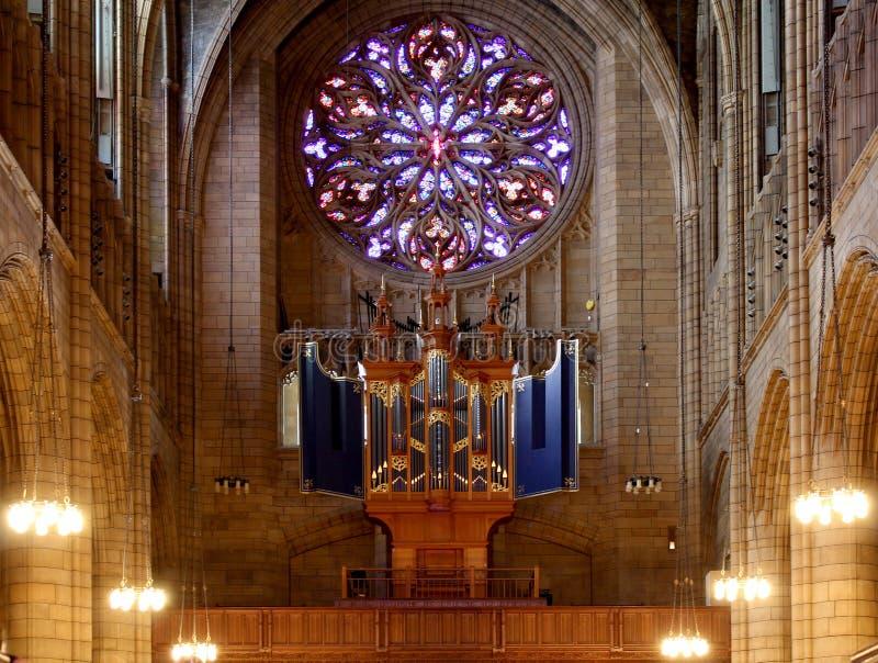 Церковь St. Thomas, расположенная на городе Манхаттана, новое Yo стоковое фото