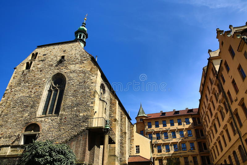 Церковь St Vaclav на Zderaze, Праге, чехии стоковое фото