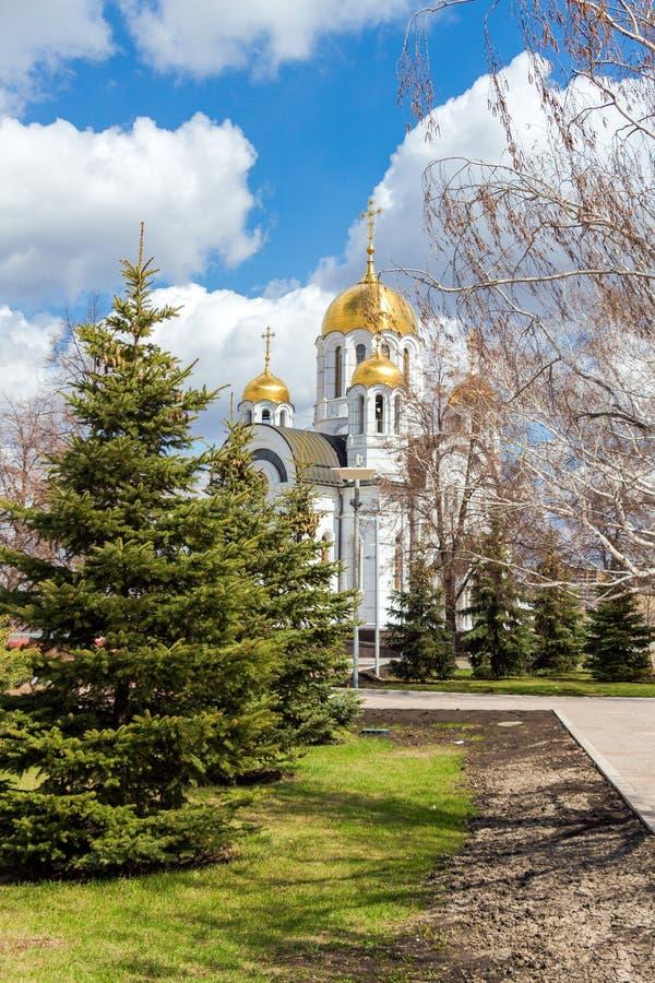 Церковь StGeorge победоносная в самаре, России стоковые изображения rf