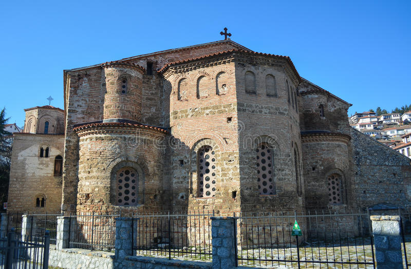 Церковь StSophia в Ohrid стоковые изображения