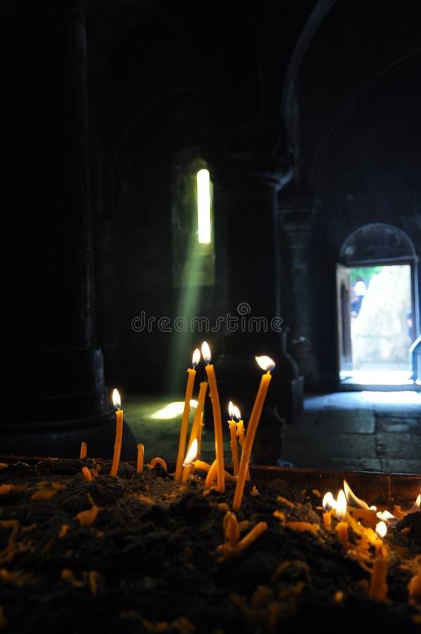 Церковь Surb Geghard from inside стоковое изображение