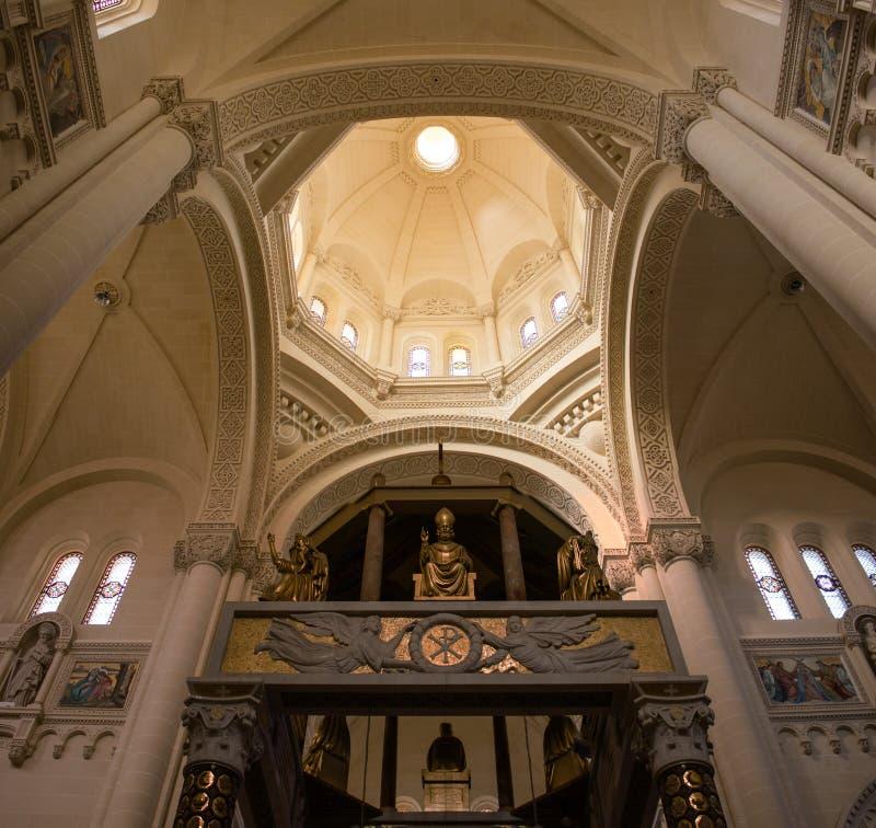 Церковь Ta Pinu в Gozo стоковое изображение