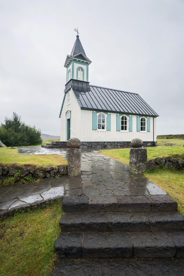 Церковь Thingvellir стоковые изображения rf