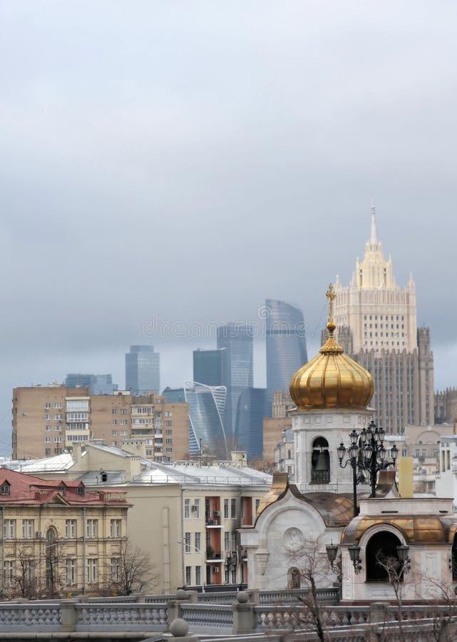 Церковь Transfiguration лорда Москвы, России стоковые фото
