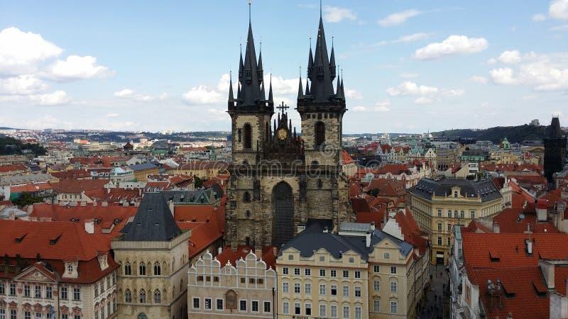 Церковь Tyn в Праге стоковое изображение rf