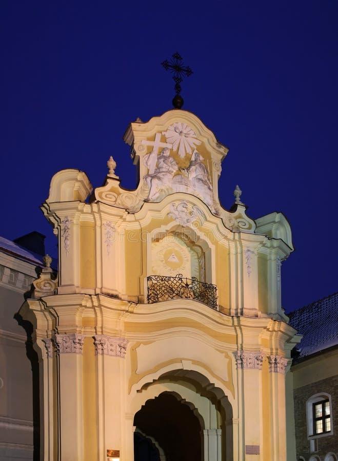 Церковь Uniate святой троицы в Вильнюсе Литва стоковые фото