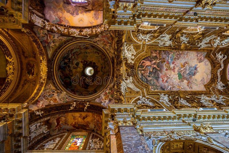 Церковь Vittoria della Santa Maria. Рим. Италия. стоковые фотографии rf