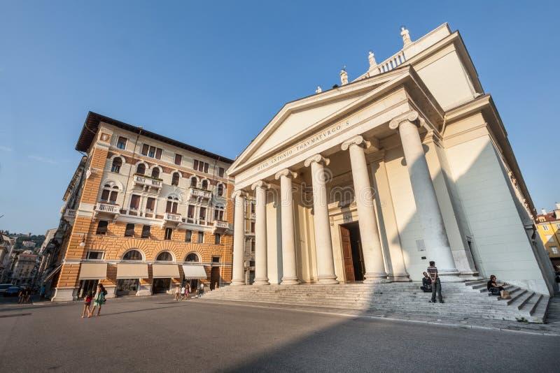 Церковь Wonderworker Святого Антония Италия trieste стоковые фото
