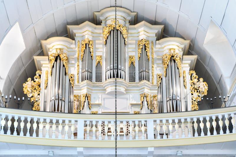 1702 1707 церков Германия нутряной johann bach arnstadt обнаружили местонахождение thuringia sebastian рынка сыгранный органом кв стоковые изображения