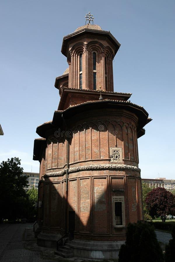 Церков городка Бухареста здание старой монументальное в Румынии стоковые фотографии rf