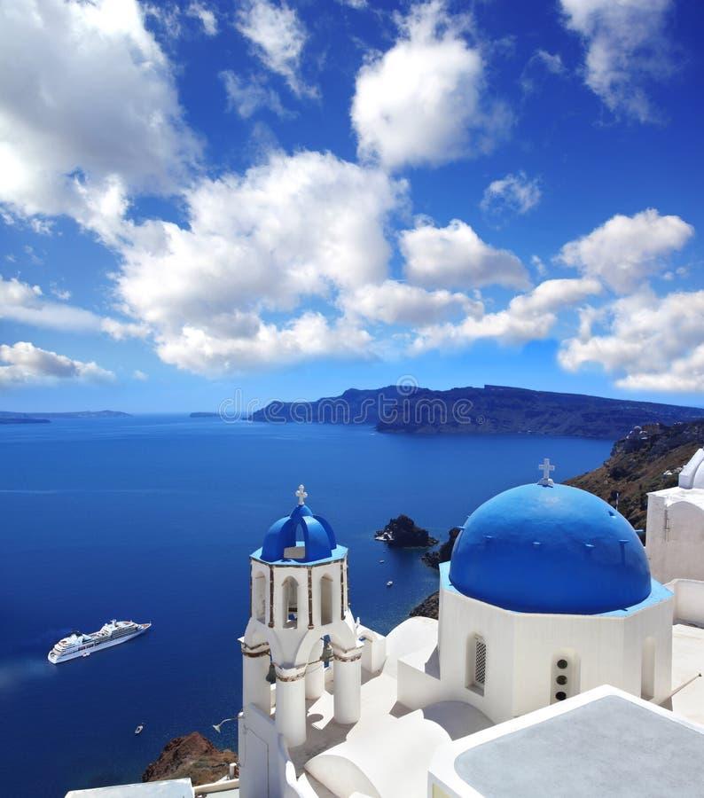 Церков Santorini в Oia, Греции стоковая фотография