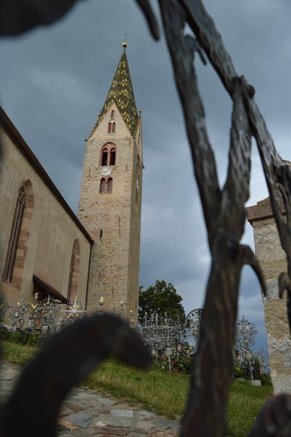 Церков Villanders стоковые изображения
