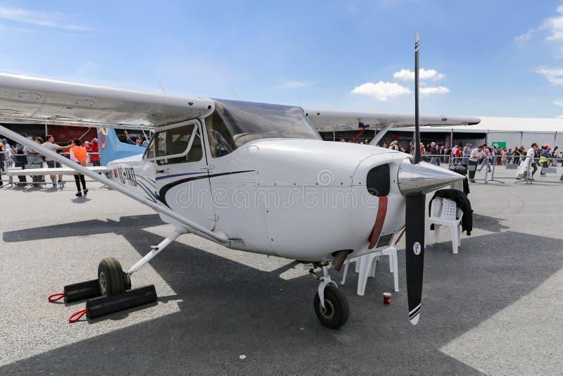 Цессна 172 Skyhawk в Teknofest Стамбуле стоковые фотографии rf