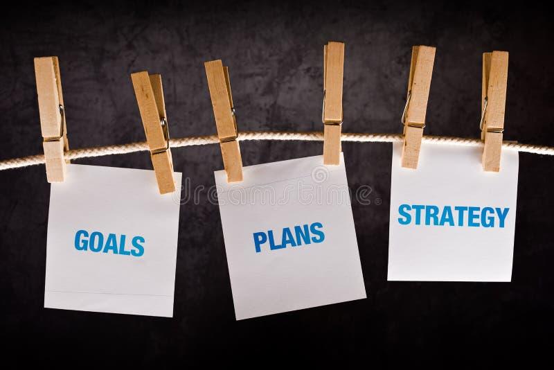 Цели, планы и стратегия, концепция дела стоковая фотография rf