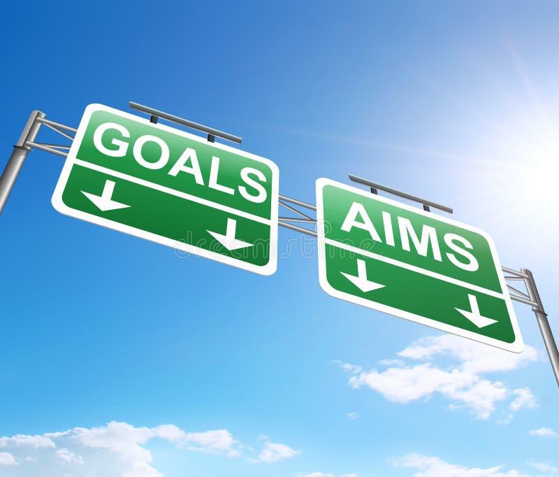 Цель и концепция целей бесплатная иллюстрация