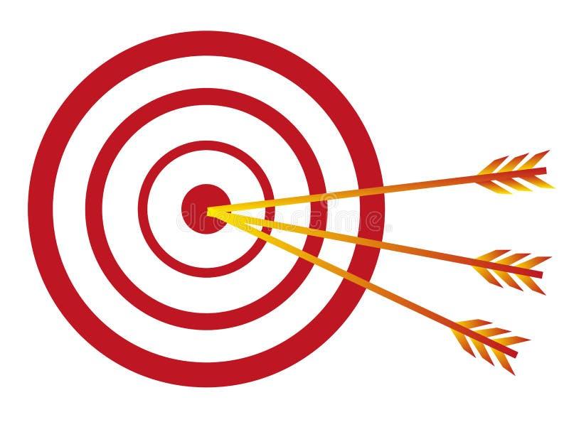 Цель с стрелками иллюстрация штока