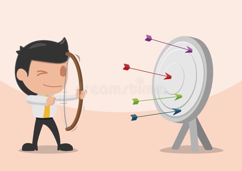Цель лучник стрелки всхода человека бесплатная иллюстрация