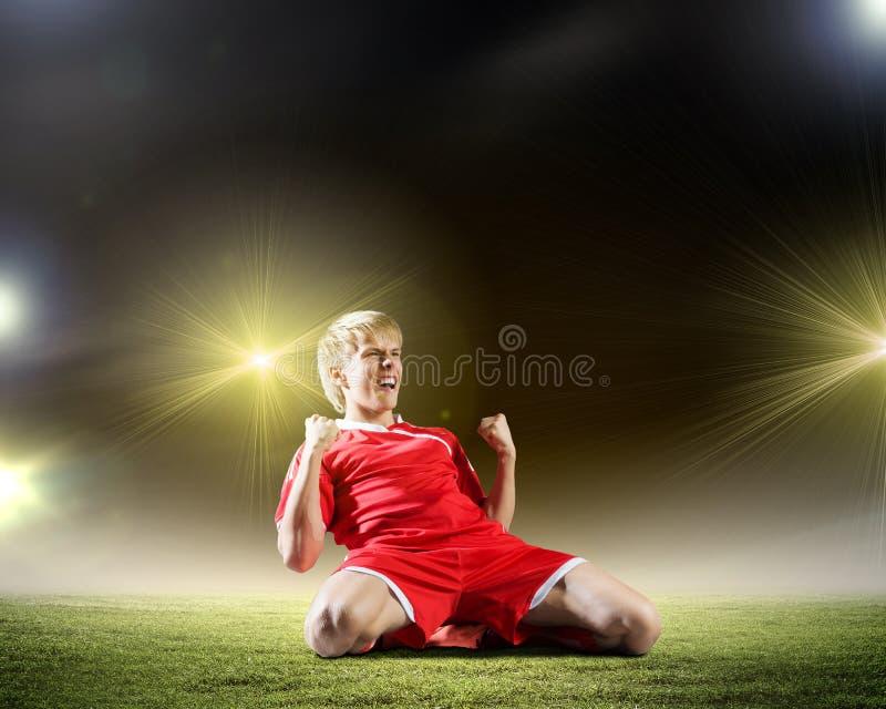 Цель футбола стоковые фото