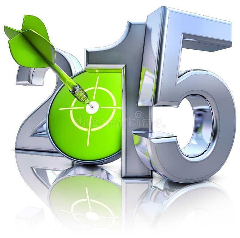 Цель 2015 бесплатная иллюстрация