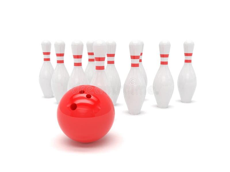 цель skittles принципиальной схемы боулинга шарика иллюстрация штока