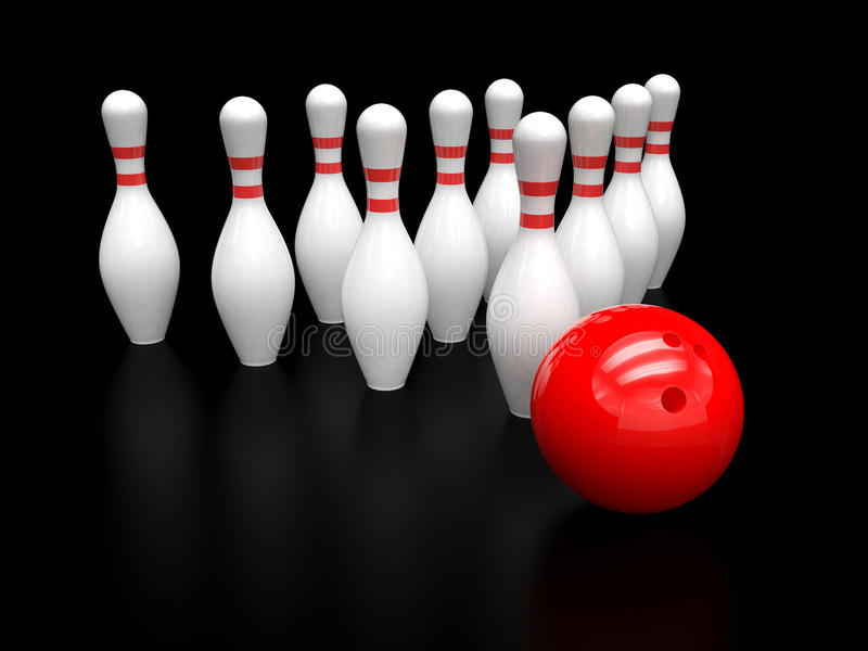 цель skittles принципиальной схемы боулинга шарика иллюстрация вектора