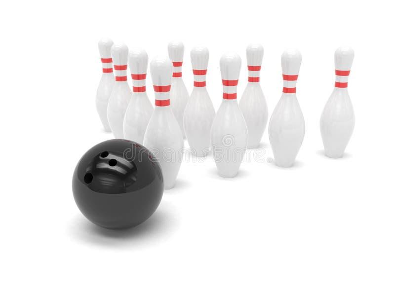 цель skittles принципиальной схемы боулинга шарика бесплатная иллюстрация