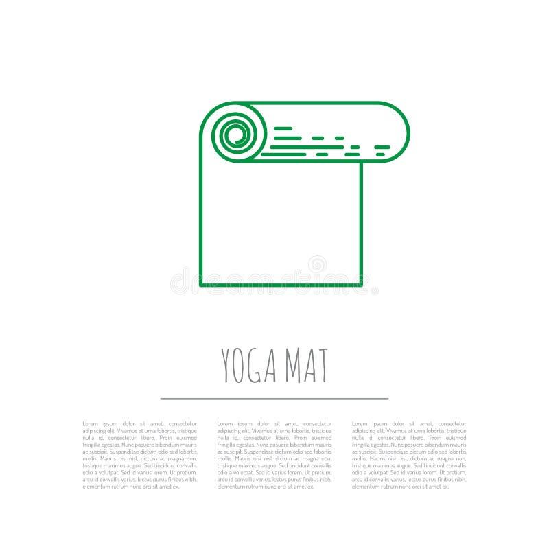 Циновка йоги спортивного инвентаря иллюстрация вектора