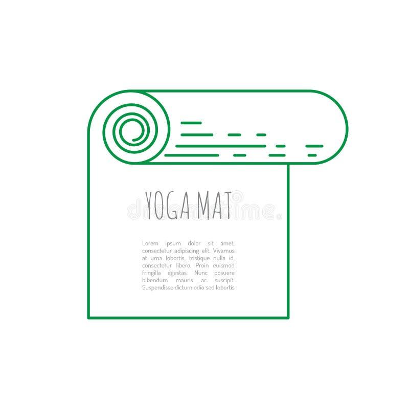 Циновка йоги спортивного инвентаря бесплатная иллюстрация