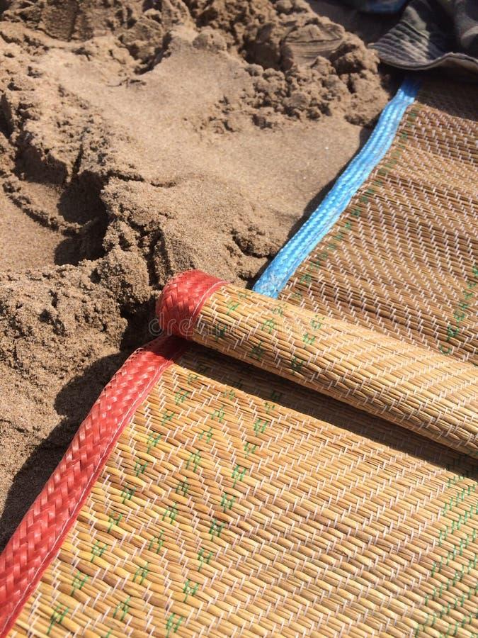 Циновки пляжа стоковое изображение