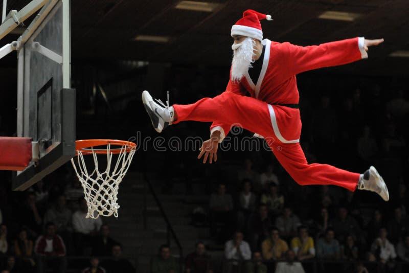 циркаческая выставка баскетбола стоковое изображение rf