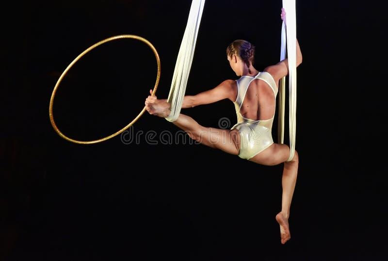 Циркаческие атлетические художники стоковые изображения rf
