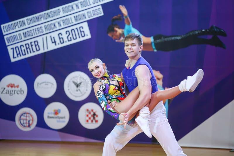 Циркаческий крен n утеса, Загреб стоковая фотография