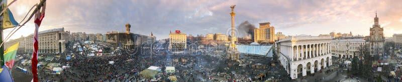 Циркуляр 360 градусов панорамы Maidan стоковые изображения