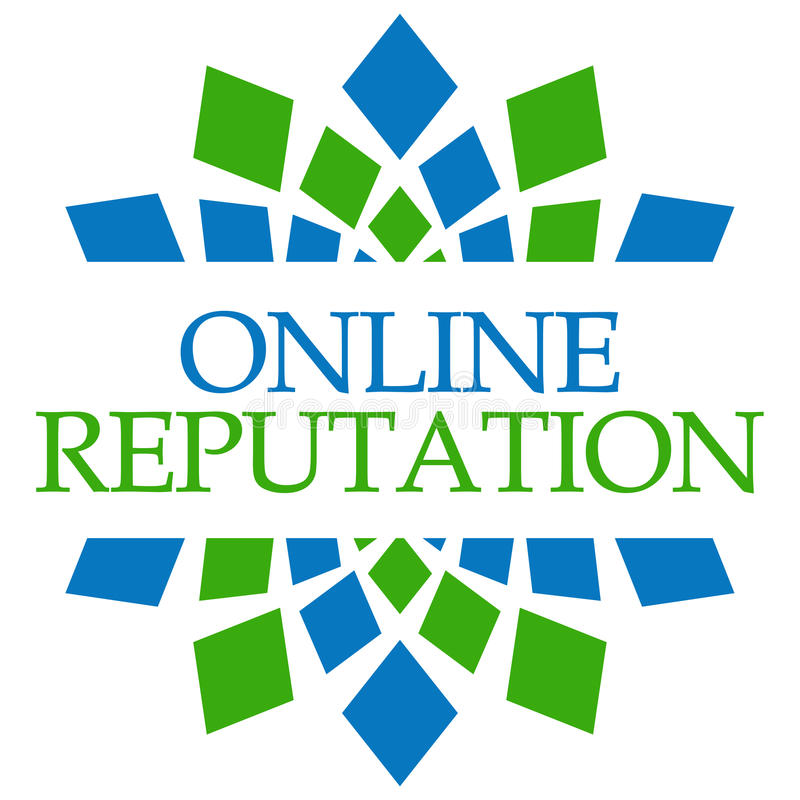 Циркуляр онлайн зеленого цвета репутации голубой иллюстрация вектора