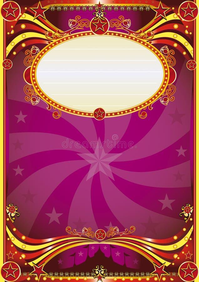 цирк барокк предпосылки иллюстрация вектора