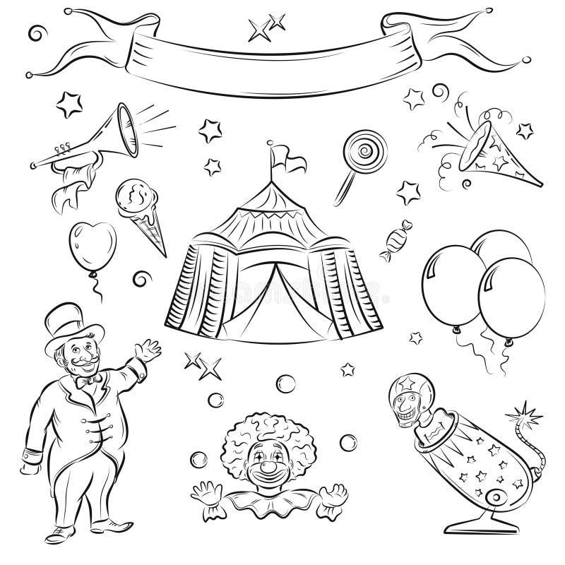 цирк иллюстрация штока