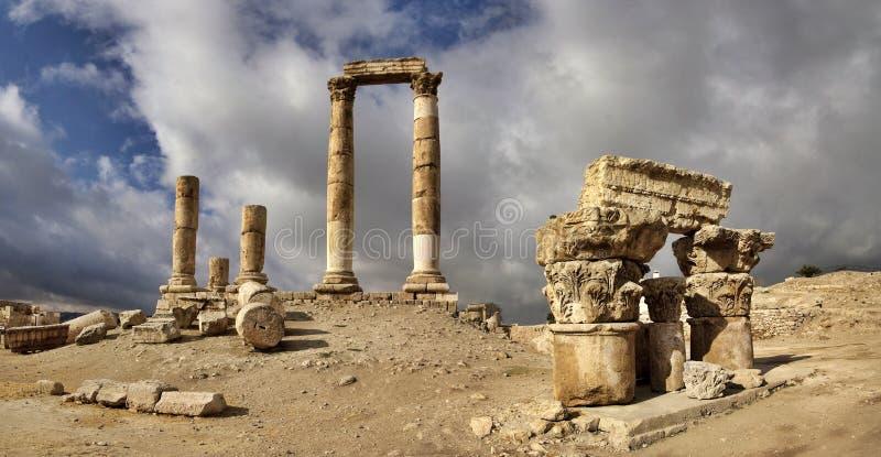 цитадель Иордан amman стоковые изображения