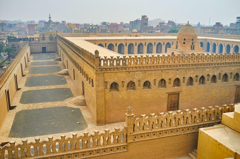 Цитадель мечети Ibn Tulun, Каира, Египта стоковые фотографии rf