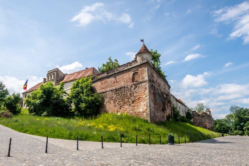 Цитадель на холме Straja, Brasov, Трансильвании, Румынии стоковая фотография rf