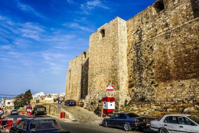 Цитадель Триполи Рэймонд De Святого Gilles стоковые фотографии rf