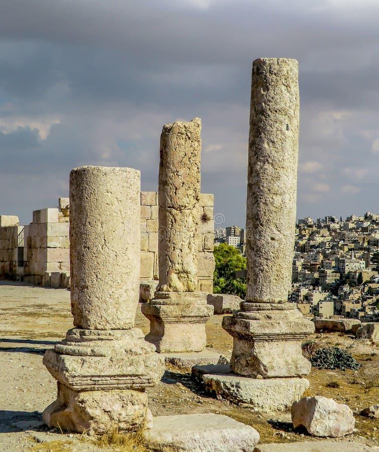 Цитадель центр города Аммана, Джордана стоковое изображение