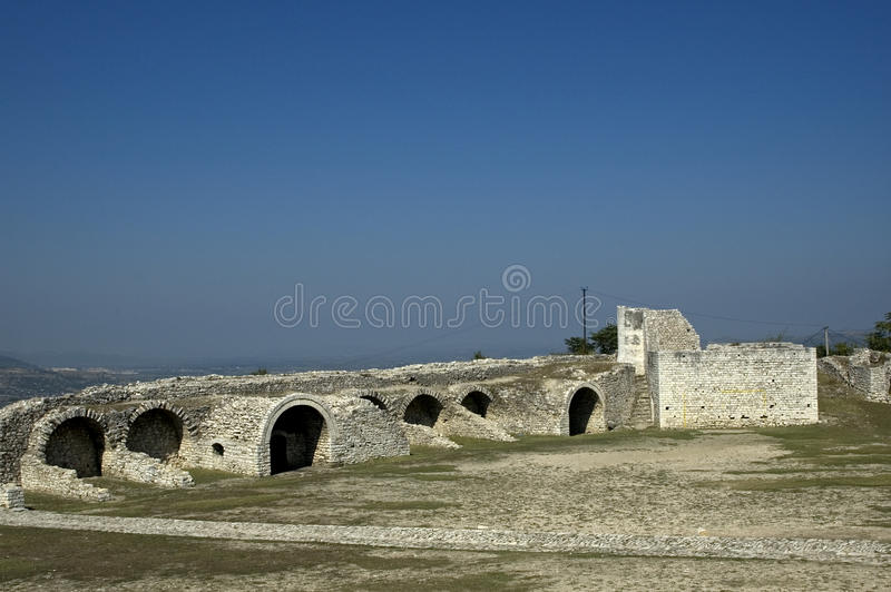 Цитадель, Berati, Албания стоковое изображение