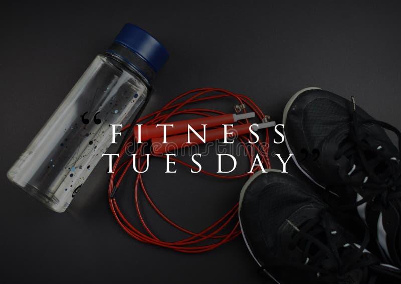 Цитата мотивации фитнеса для вашей лучшей разминки стоковое изображение rf
