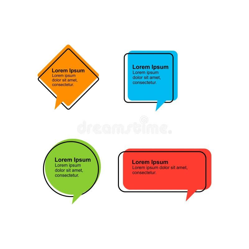 Цитата установленного вектора ультрамодная или шаблон 5 цитации иллюстрация штока