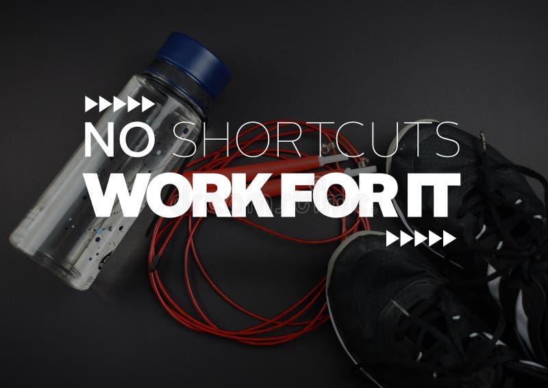 Цитаты мотивировки фитнеса стоковое изображение