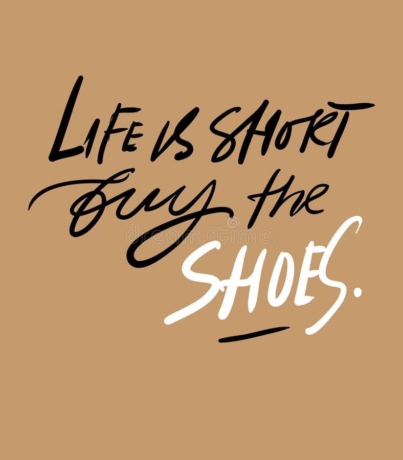 Цитаты о ботинках Fpr литерности руки ваш дизайн иллюстрация штока
