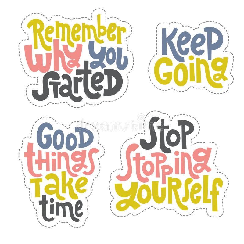 Цитаты успеха мотивационные иллюстрация штока
